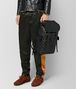 nero/dark leather intrecciato microdots sassolungo backpack Full Out Portrait