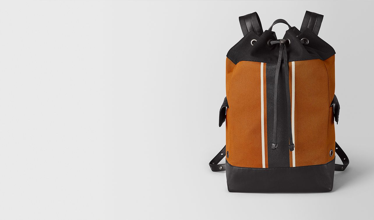 orange/nero canvas backpack  landing