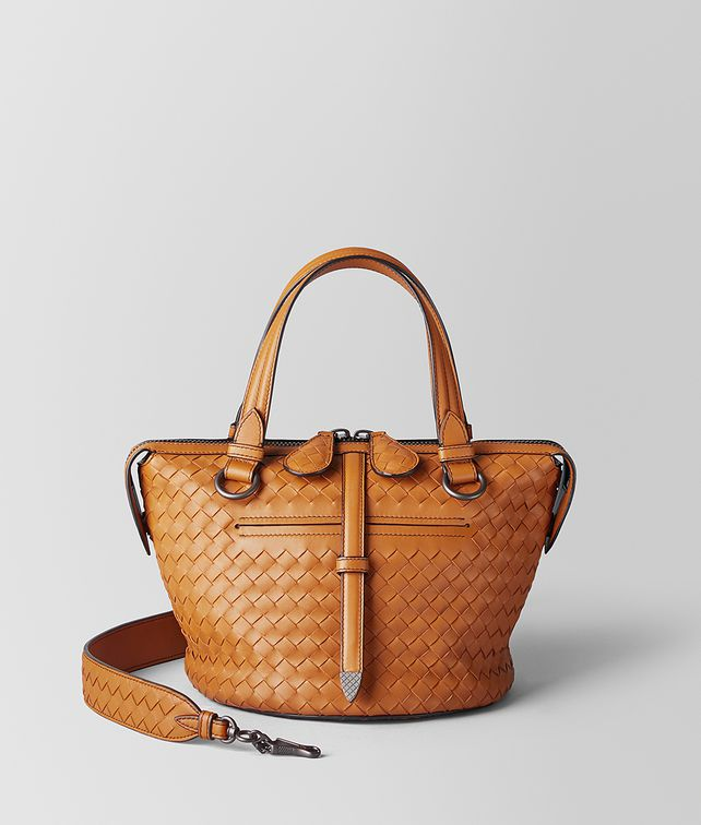 BOTTEGA VENETA ORANGE INTRECCIATO NAPPA TAMBURA BAG  Top Handle Bag Woman fp