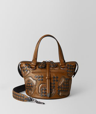 BORSA TAMBURA IN NAPPA E AYERS PAISLEY CHECKER MULTICOLOR
