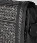 nero/dark leather intrecciato microdots messenger Back Detail Portrait