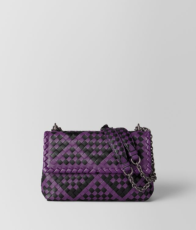 BOTTEGA VENETA BORSA OLIMPIA IN INTRECCIATO CHECKER MONALISA/NERO Shoulder Bag [*** pickupInStoreShipping_info ***] fp