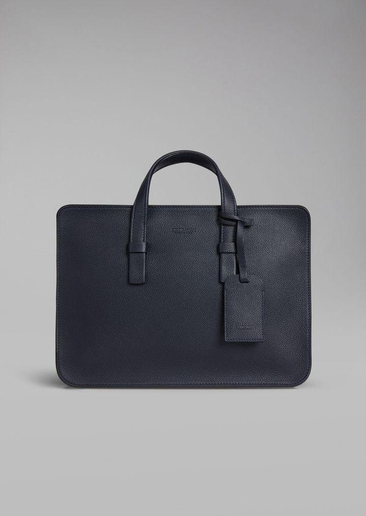 Briefcase in grained calfskin  c5ca0cddb3e75