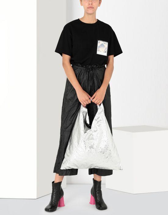 MM6 MAISON MARGIELA Japanese silver crinkled bag Handbag [*** pickupInStoreShipping_info ***] b