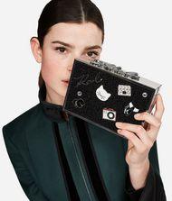KARL LAGERFELD K/Pins Box-Clutch mit Tweed  9_f