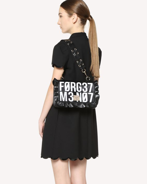 REDValentino SAC PORTÉ ÉPAULE ROCK RUFFLES « ENCRYPTED LOVE NOTES »