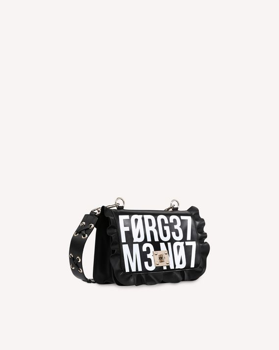 "REDValentino ROCK RUFFLES ""ENCRYPTED LOVE NOTES"" SHOULDER BAG"