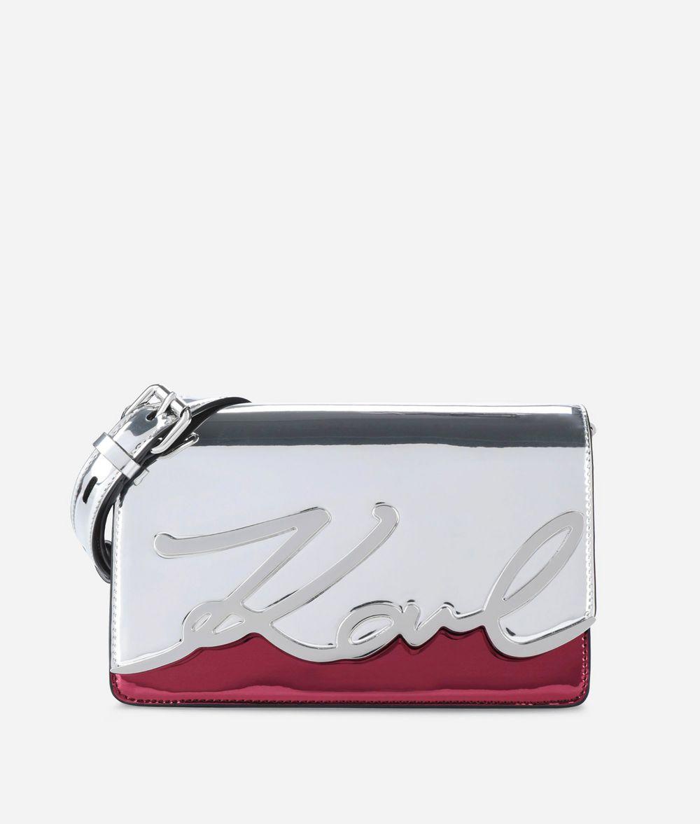 KARL LAGERFELD K/Signature Glossy Shoulder Bag Shoulder bag Woman f