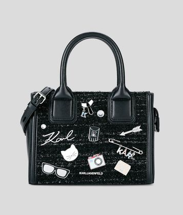 KARL LAGERFELD K/KLASSIK PINS MINI TOTE BAG