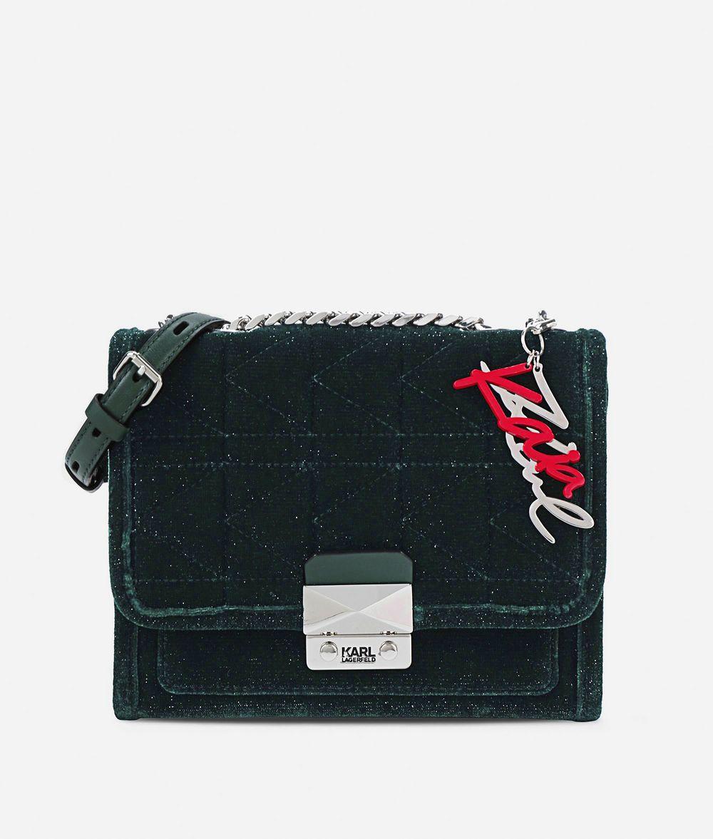 KARL LAGERFELD Karl X Kaia Glitter Velvet Handbag Handbag Woman f