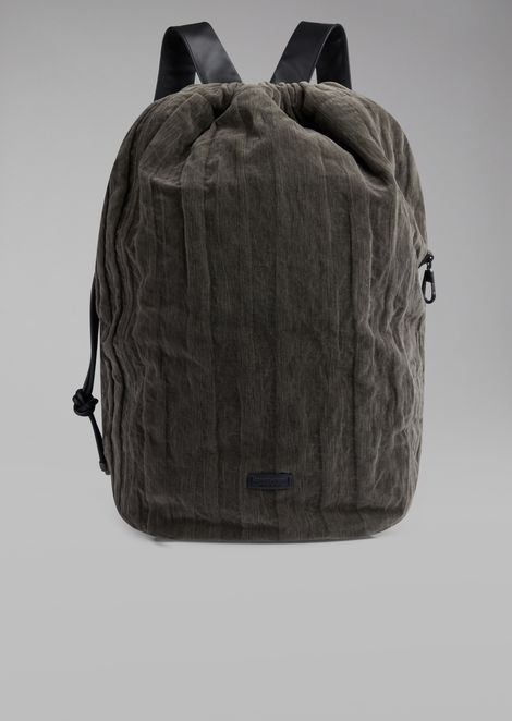 Weekend bag in velvet with a wrinkled effect 77658b8cc67ab