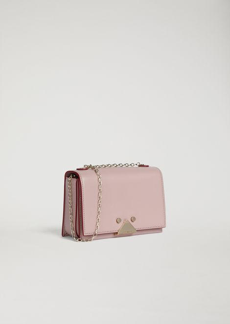 Smooth leather mini crossbody bag