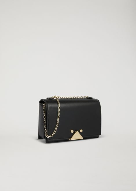 Mini-bag in smooth leather with chain strap
