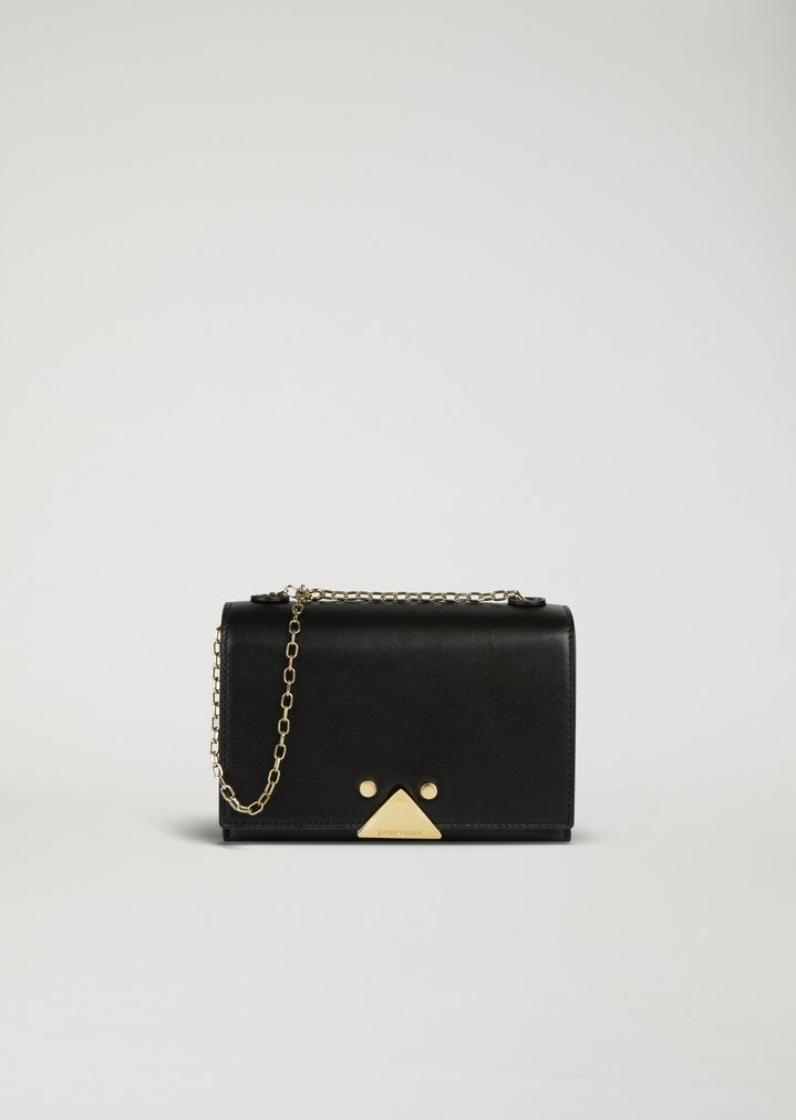 0c6dec6c46 Mini-bag in smooth leather with chain strap