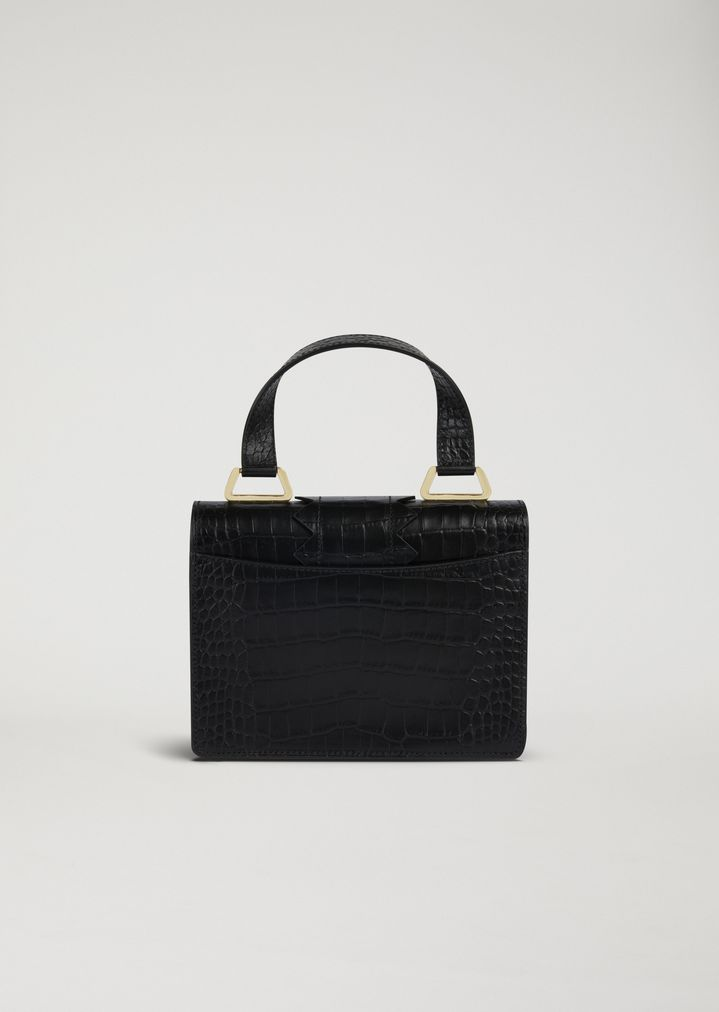 f00f4134f52 ... Mini-bag in croc print leather with shaped detail and shoulder strap.  EMPORIO ARMANI