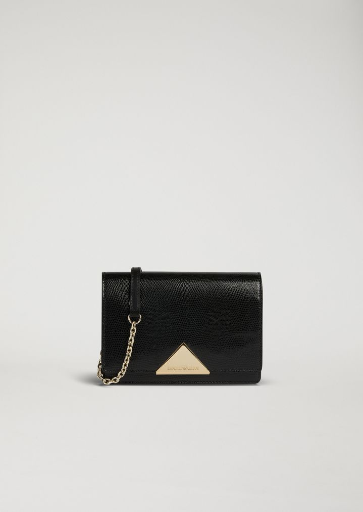 9af5c8443a Cross body bag in lizard print leather and cowhide | Woman | Emporio ...