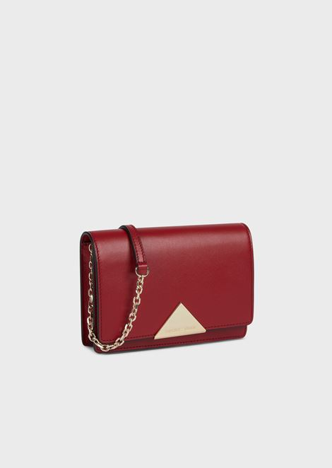 Smooth leather mini crossbody bag