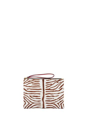 Marni Pochette in lux haircalf leather for a zebra effect Woman