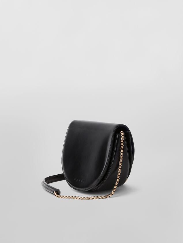 Marni MONILE bag in black leather  Woman