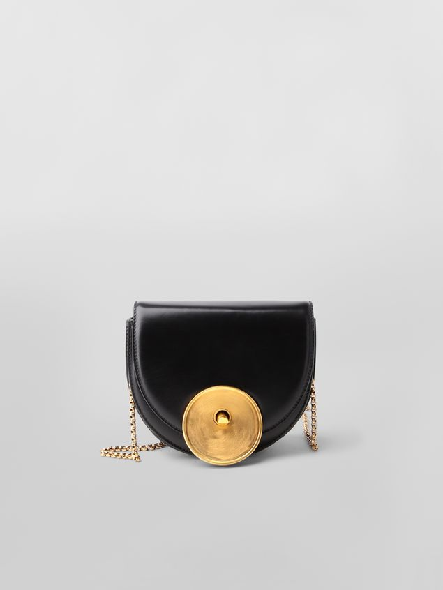 Marni MONILE bag in black leather  Woman - 1