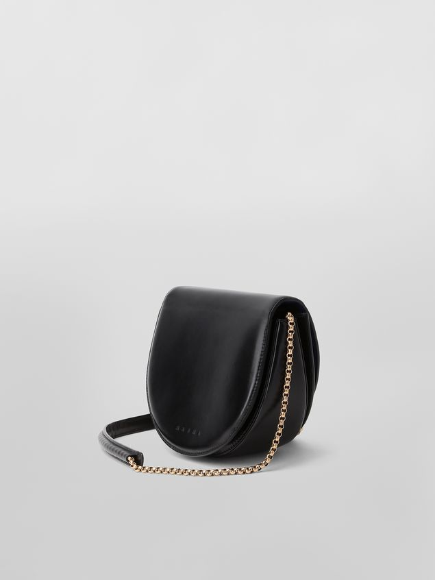 Marni MONILE bag in black leather  Woman - 3