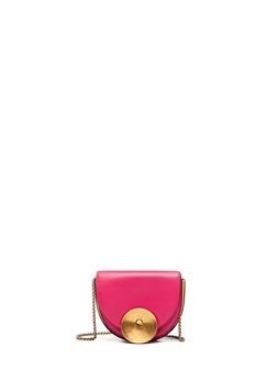 Marni MONILE bag in black and fuchsia calfskin Woman