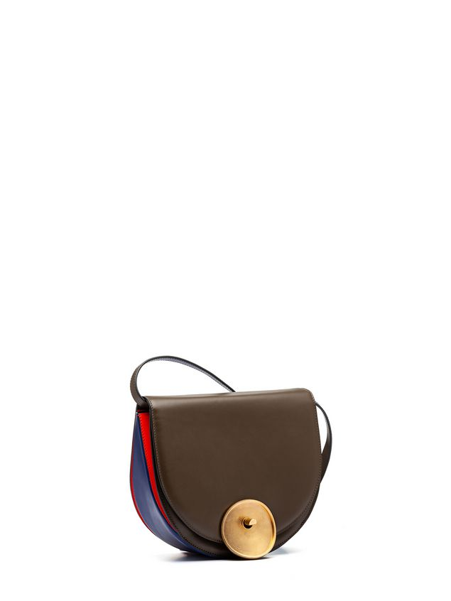 Marni MONILE bag in brown and blue calfskin Woman - 2