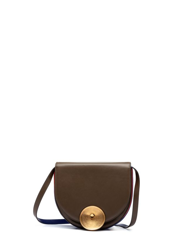 Marni MONILE bag in brown and blue calfskin Woman - 1