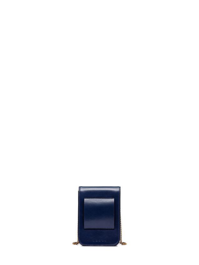 Marni MONILE bag in blue calfskin Woman