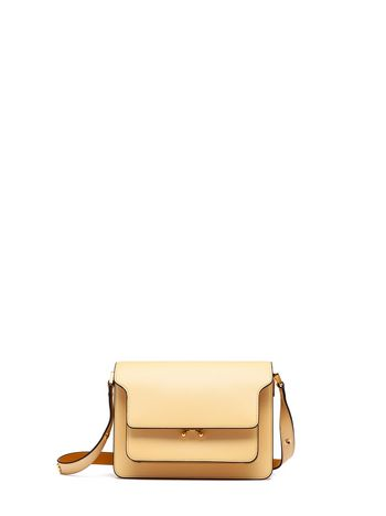 Marni TRUNK bag in mono-coloured calfskin Woman