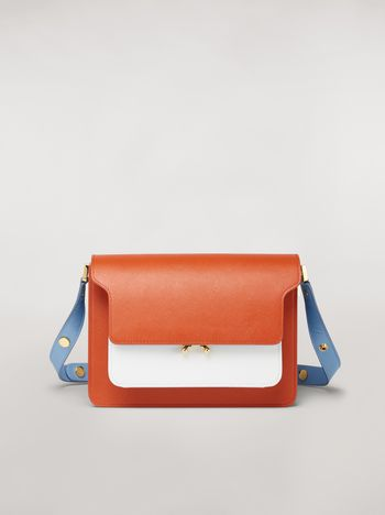 Marni TRUNK bag in three-coloured saffiano calfskin Woman f
