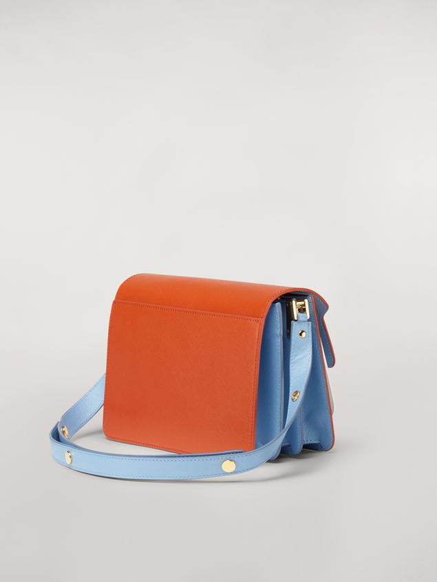 Marni TRUNK bag in three-coloured saffiano calfskin Woman