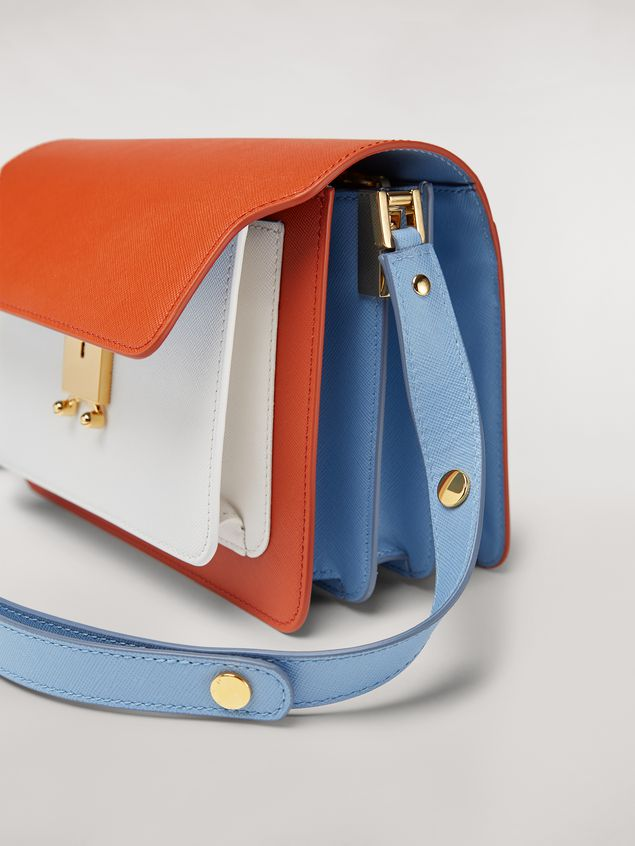 Marni TRUNK bag in three-coloured saffiano calfskin Woman - 4