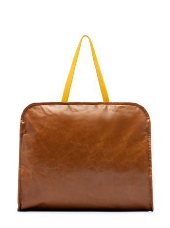 Cushion Bag In Beige And Yellow Calfskin