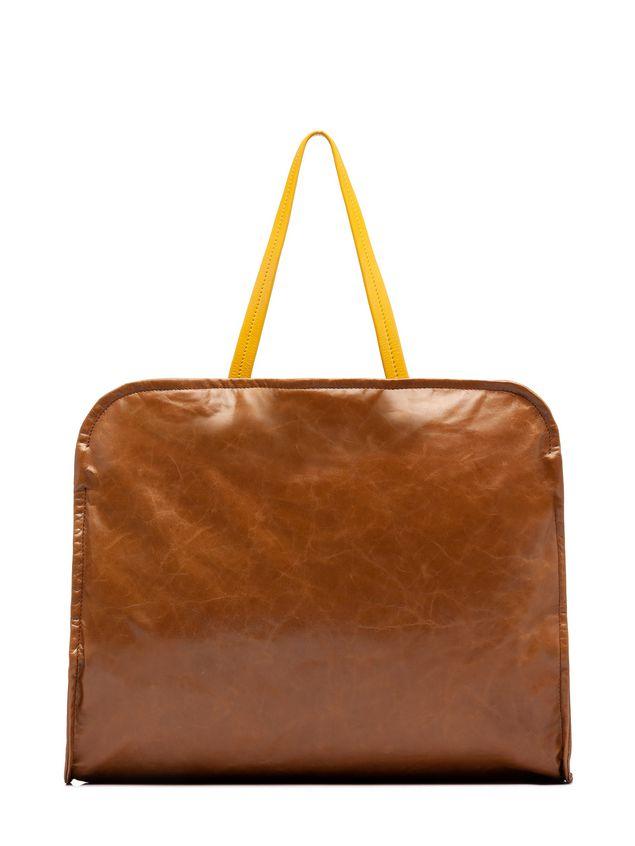 Marni CUSHION bag in beige and yellow calfskin Woman
