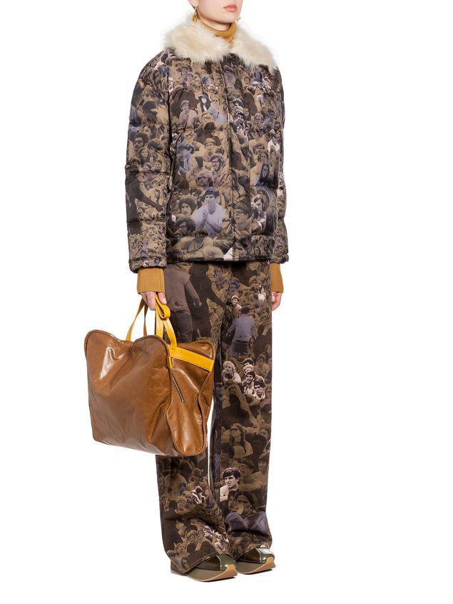 Marni CUSHION bag in beige and yellow calfskin Woman - 5