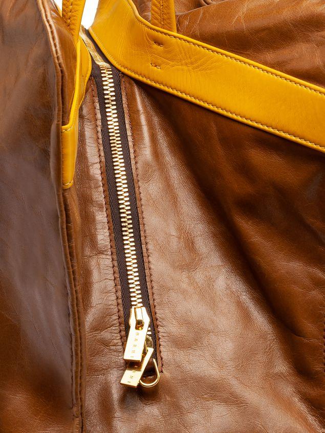 Marni CUSHION bag in beige and yellow calfskin Woman - 4