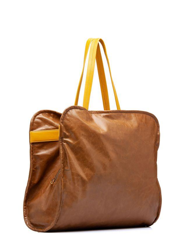 Marni CUSHION bag in beige and yellow calfskin Woman - 2