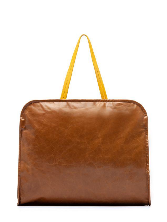 Marni CUSHION bag in beige and yellow calfskin Woman - 1