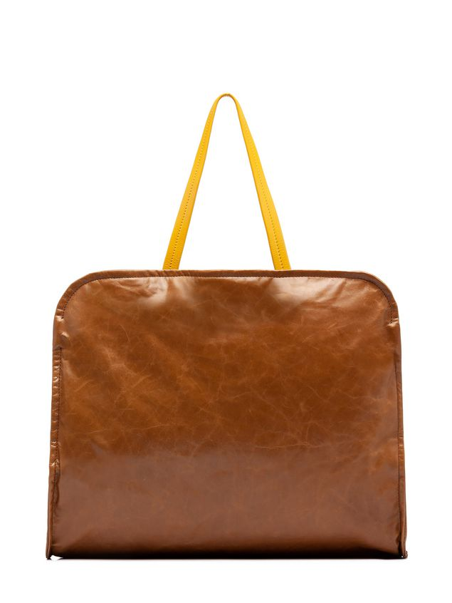 Marni CUSHION bag in beige and yellow calfskin Woman - 3