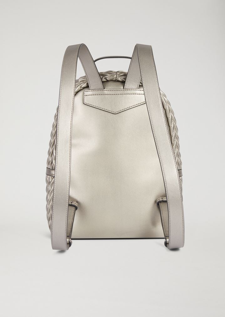 b24aac18bc5 EMPORIO ARMANI Quilted faux nappa backpack with drop pattern Backpack Woman  e