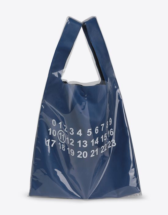 MAISON MARGIELA PVC coated leather shopper Tote [*** pickupInStoreShippingNotGuaranteed_info ***] f