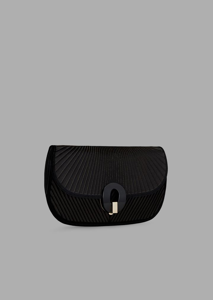 1f32c3c9ff ... Satin clutch bag with laser-etched chevron design in velvet. GIORGIO  ARMANI
