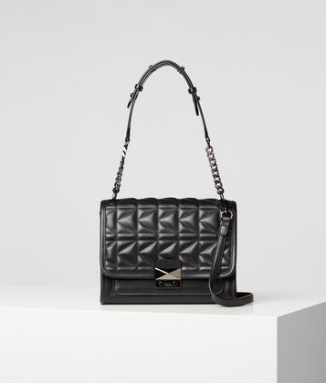 KARL LAGERFELD K/KUILTED LEATHER HANDBAG