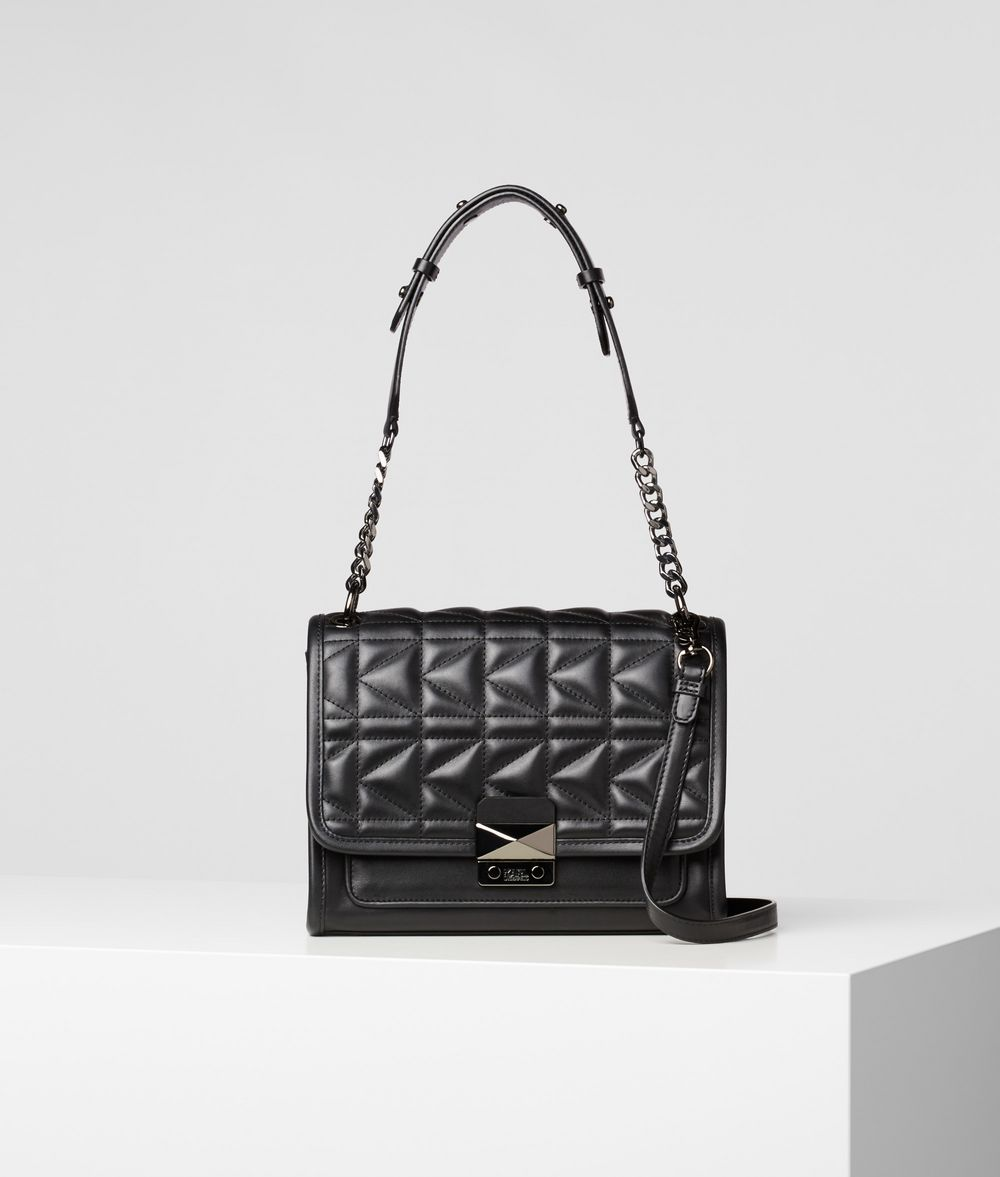 KARL LAGERFELD K/Kuilted Leather Handbag Handbag Woman f