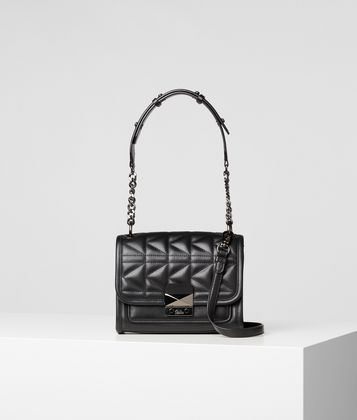 KARL LAGERFELD K/KUILTED LEATHER MINI HANDBAG