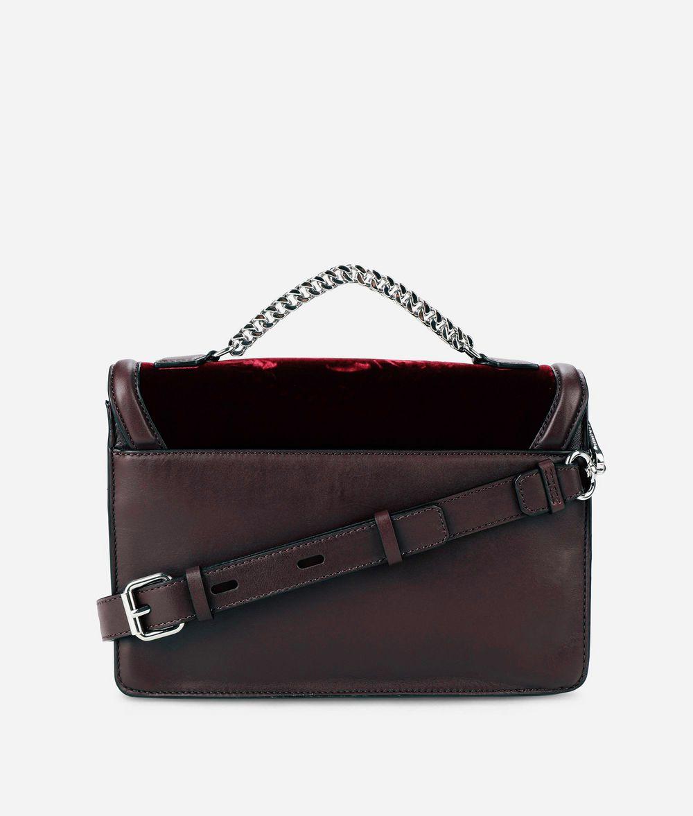 KARL LAGERFELD K/Klassik Schultertasche aus Leder mit Ansteckern Schultertasche Damen d