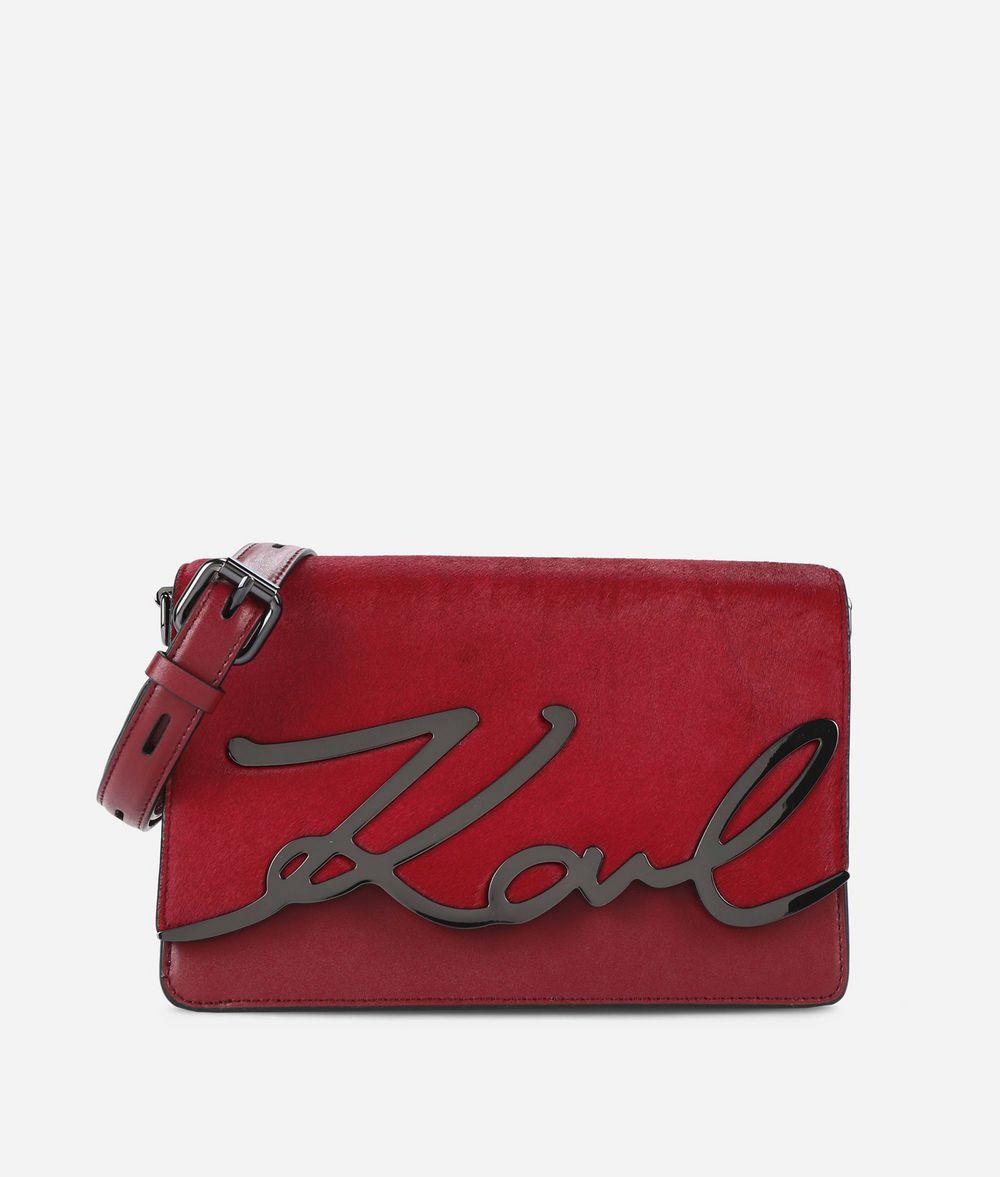 KARL LAGERFELD K/Signature Luxe Leather Shoulder Bag Handbag Woman f