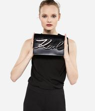 KARL LAGERFELD K/Signature Luxe Leather Shoulder Bag 9_f
