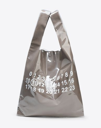 MAISON MARGIELA トートバッグ [*** pickupInStoreShippingNotGuaranteed_info ***] PVC コーティング レザー ショッパー f
